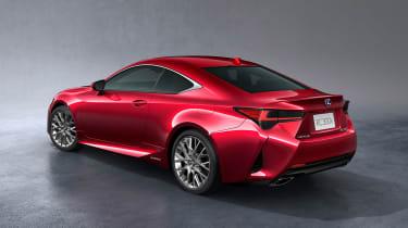 Lexus RC coupe facelift - rear quarter
