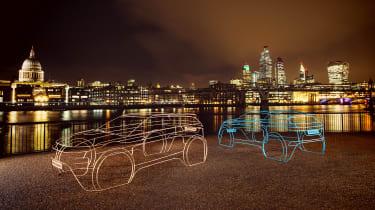 2019 Land Rover Evoque wire frame night