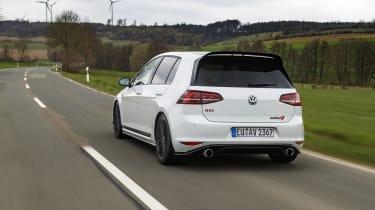 Volkswagen Golf GTI Clubsport rear three quarters