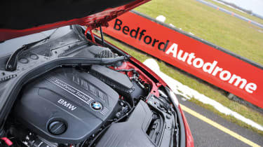 BMW 320d engine bay F30