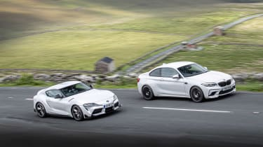 BMW M2 Competition vs Toyota GR Supra - pan