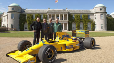 Martin Donnelly reunited with Lotus 102 at Goodwood House