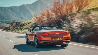 Bentley Continental GT Convertible drive - rear