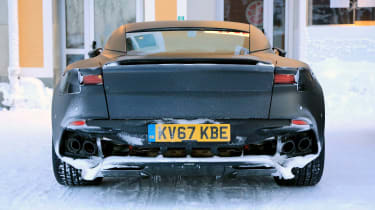 Aston Vanquish winter spy - rear
