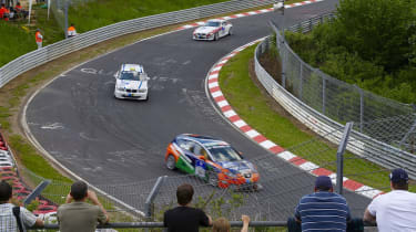 Nurburgring 24 Hours track spectactors