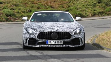 Mercedes-AMG GT R roadster spy - nose