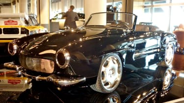 400bhp Mercedes 190SL CMH black front view