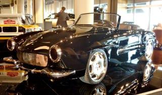 400bhp Mercedes 190SL CMH black front view