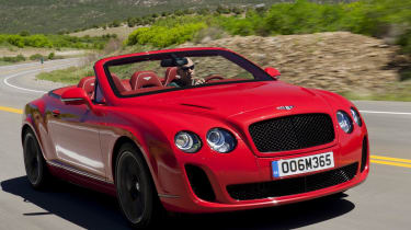 Bentley Conti GT Supersports convertible tracking