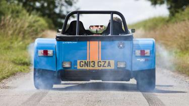 Caterham 620R rear tyre smoke