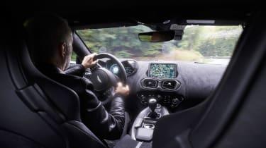 Aston Martin Vantage cabin