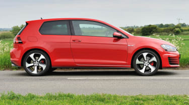 2013 VW Golf GTI mk7 red side profile