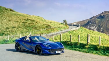 Ferrari 812 GTS TDF blue - front static
