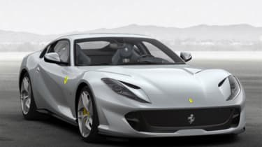 Ferrari 812 Superfast configured silver