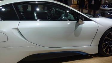 BMW i8 hybrid supercar door