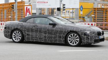 BMW 8-series Cabriolet spied - side