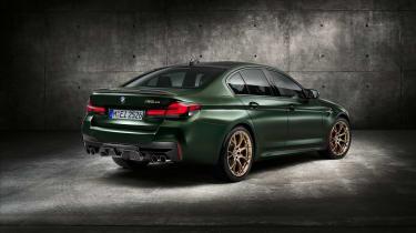 BMW M5 CS - studio rear quarter