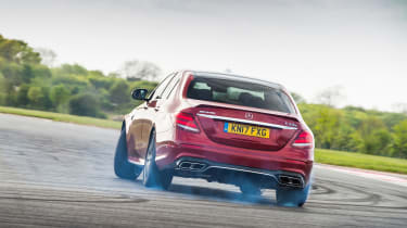 Mercedes-AMG E63 S – rear - on track