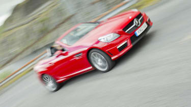 Mercedes SLK55 AMG red