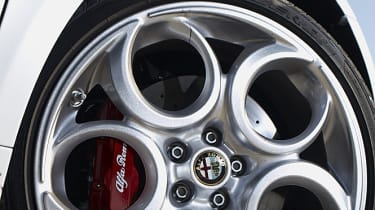 Alfa Romeo 4C pepperpot phone dial alloy wheel