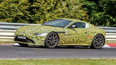 Aston Martin V8 Vantage spy - side