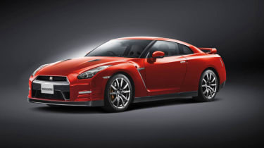 Nissan GT-R 2014 model year red side profile