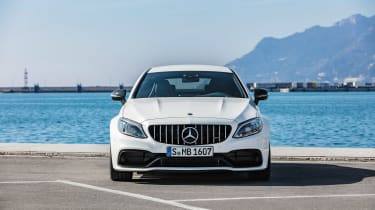 Mercedes-AMG C 63 S Coupe - white static front