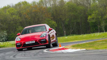 Porsche Panamera Turbo – front - on track