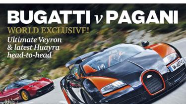 Bugatti Veyron Grand Sport Vitesse vs Pagani Huayra evo Magazine August 2013