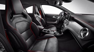 Mercedes CLA45 AMG Edition 1 interior front seats