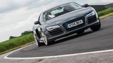 Audi R8 Plus on track
