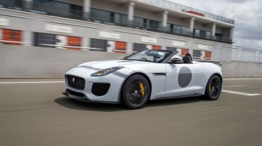 Jaguar F-Type Project 7 - white track