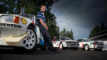 Juha Kankkunen and his rally cars