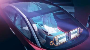 Volkswagen I.D. Vizzion – glasshouse