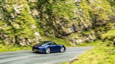 Porsche 911 Carrera S manual blue - rear quarter 2