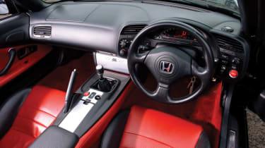 Honda S2000 red leather interior