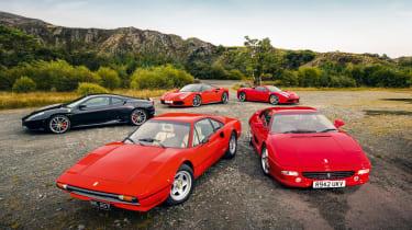 Ferrari V8 Group test – Enzo mag