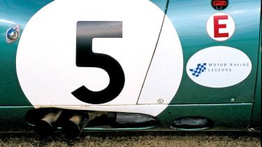 Aston Martin DBR1 exhausts