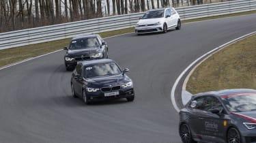 BMW 320i front cornering