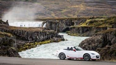 Mazda MX-5 in Iceland - profile