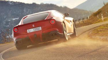 Ferrari F12 Berlinetta sliding skid drift