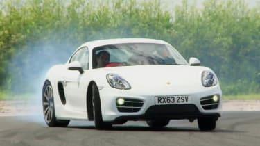 Porsche Cayman white front