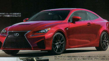 New Lexus RC-F coupe front