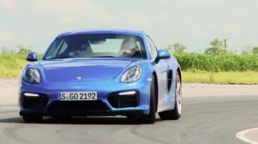 Porsche Cayman GTS on track