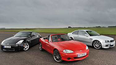 BMW M3 vs Nissaqn 350Z vs Mazda MX-5