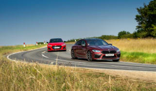 Audi RS7 vs M8 Comp GC - cornering