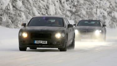 Bentley Flying Spur spied – front