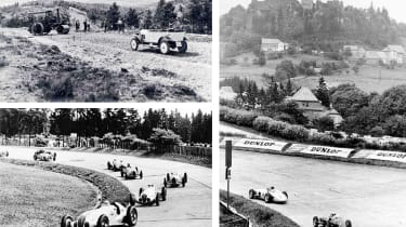 History of Nurburgring - collage