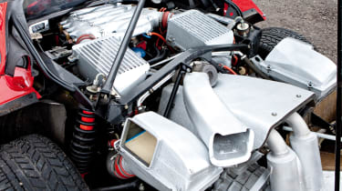 Ferrari F40 engine shot