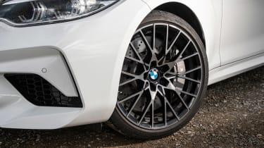 BMW M2 Competition vs Toyota GR Supra - BMW wheel